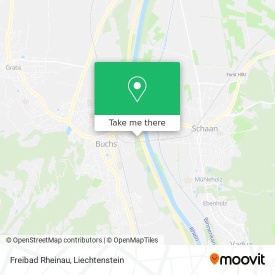 Freibad Rheinau Buchs map