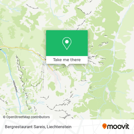 Bergrestaurant Sareis map
