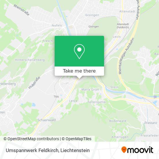 Umspannwerk Feldkirch map