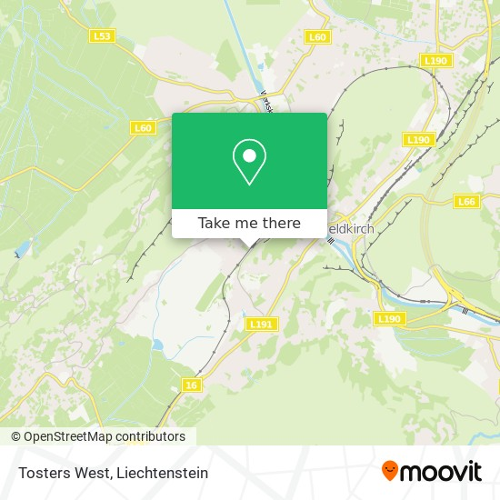 Tosters West map