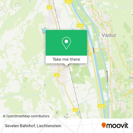 Sevelen Bahnhof map