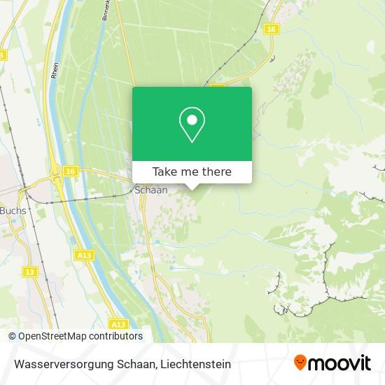 Wasserversorgung Schaan map