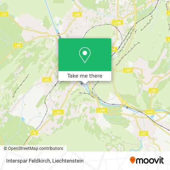 Interspar Feldkirch map
