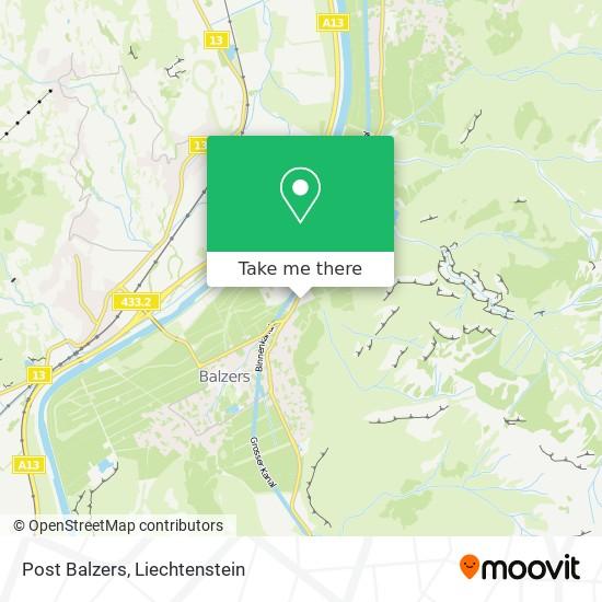 Post Balzers map