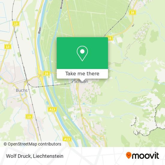 Wolf Druck map
