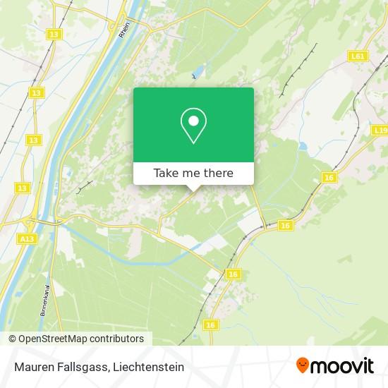Mauren Fallsgass map