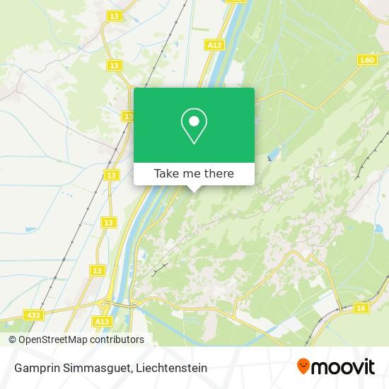 Gamprin Simmasguet map