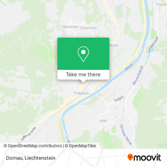 Trübbach Dornau map
