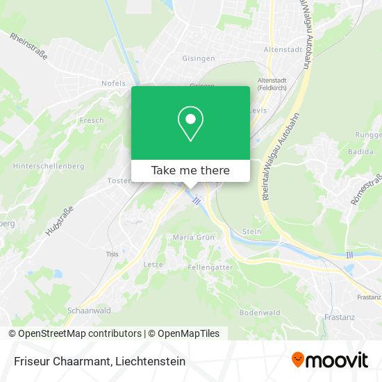 Friseur Chaarmant map