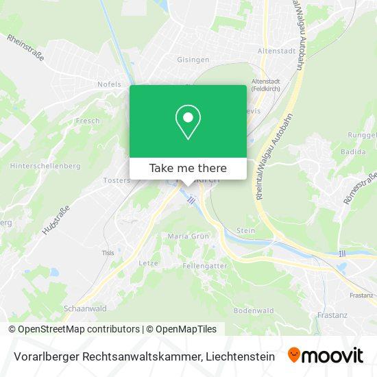 Vorarlberger Rechtsanwaltskammer map
