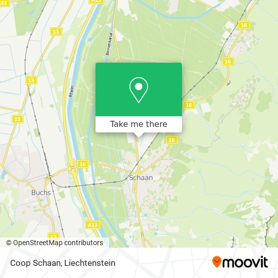 Coop Schaan map
