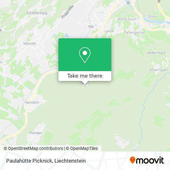 Paulahütte Picknick map
