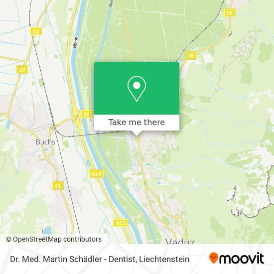 Dr. Med. Martin Schädler - Dentist map
