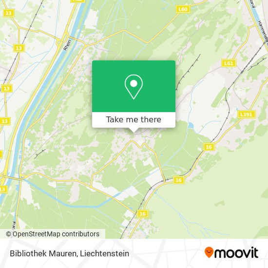 Bibliothek Mauren map