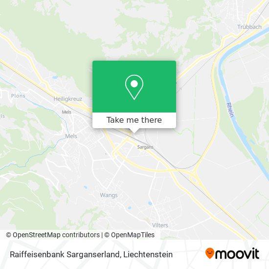 Raiffeisenbank Oberes Sarganserland map