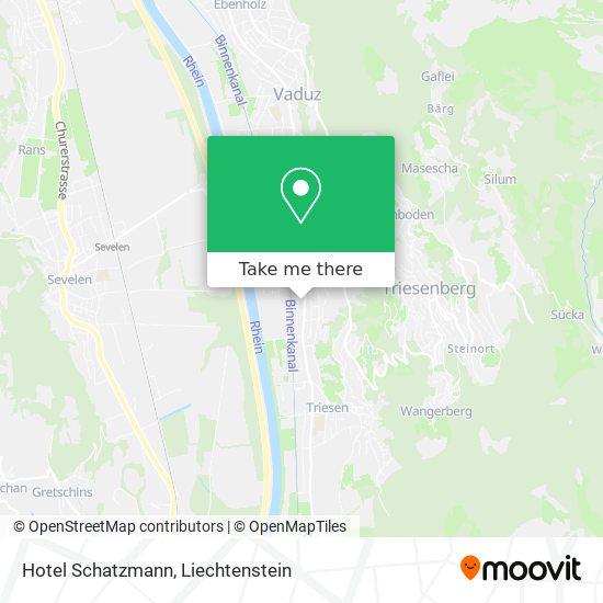 Hotel Schatzmann map