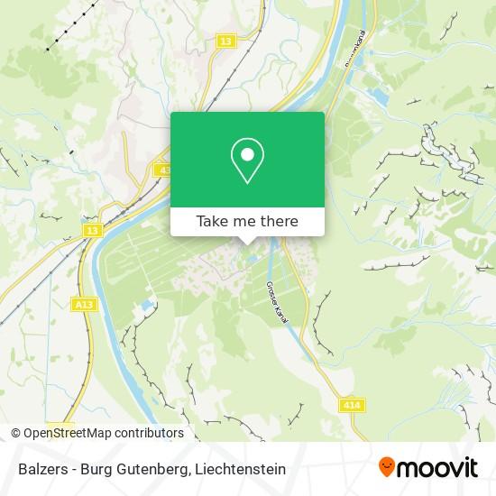 Balzers - Burg Gutenberg map