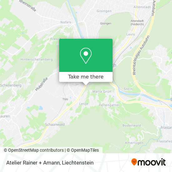 Atelier Rainer + Amann map