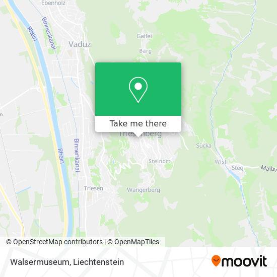 Walsermuseum map