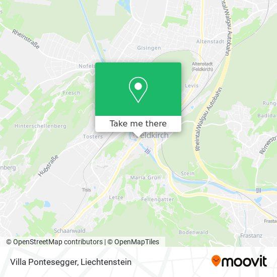 Villa Pontesegger map