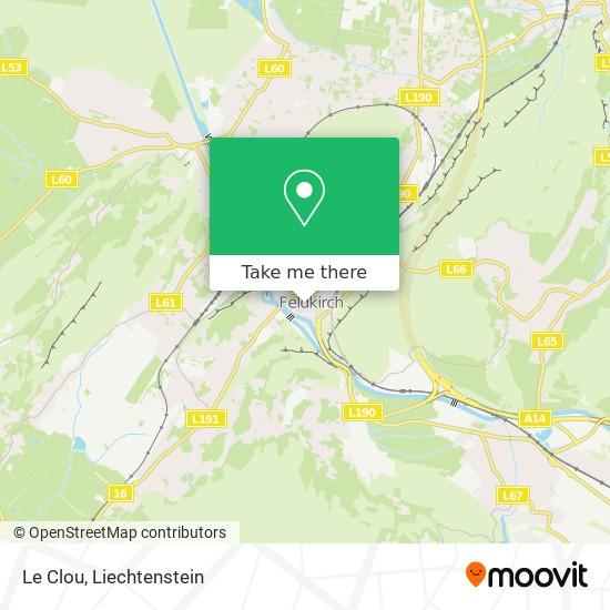 Le Clou map