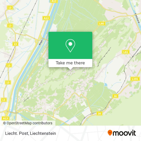 Liecht. Post map