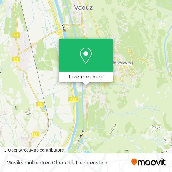 Musikschulzentren Oberland map