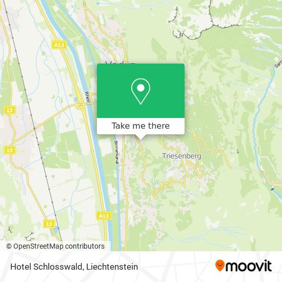 Hotel Schlosswald map