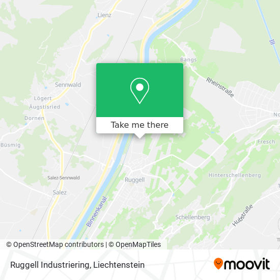 Ruggell Industriering map