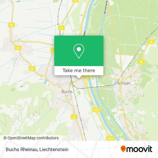 Buchs Rheinau map