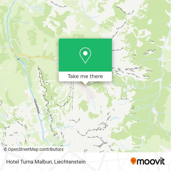 Hotel Turna Malbun map