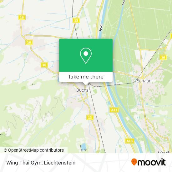 Wing Thai Gym map