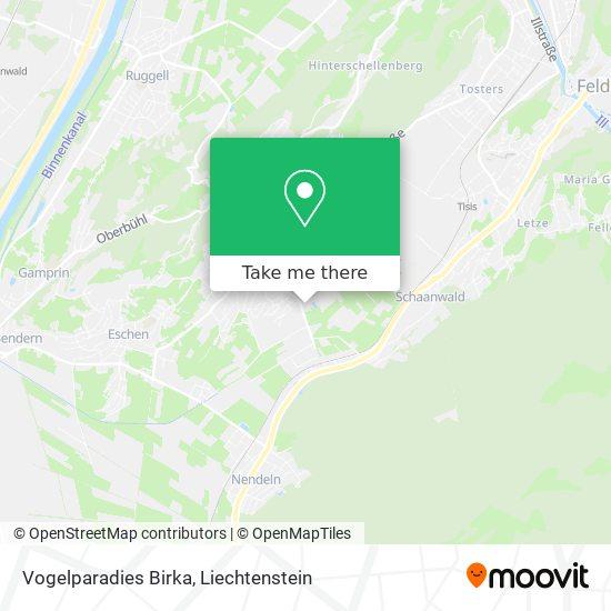 Vogelparadies Birka map