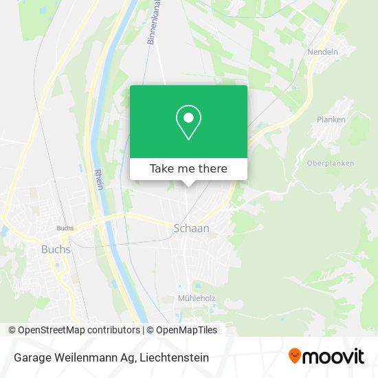Garage Weilenmann Ag map