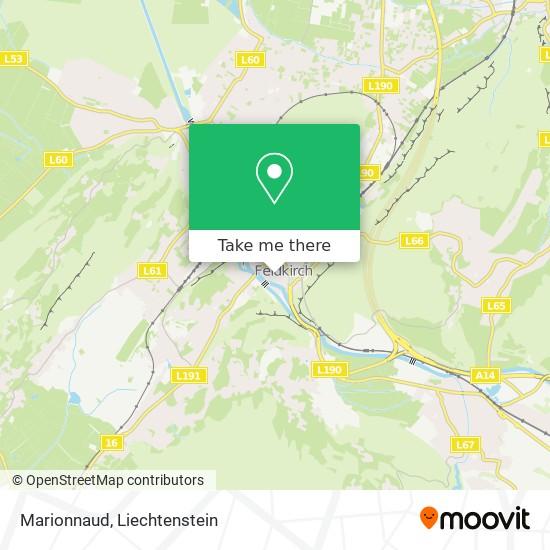 Marionnaud map