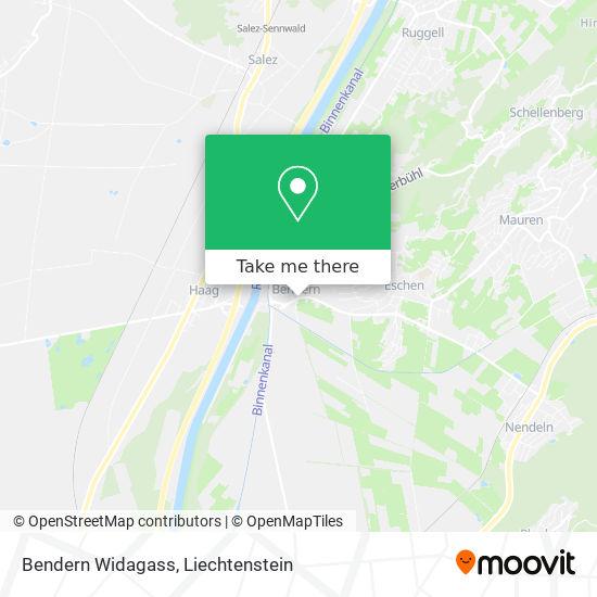 Bendern Widagass map