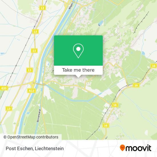 Post Eschen map