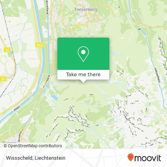 Wissscheld map