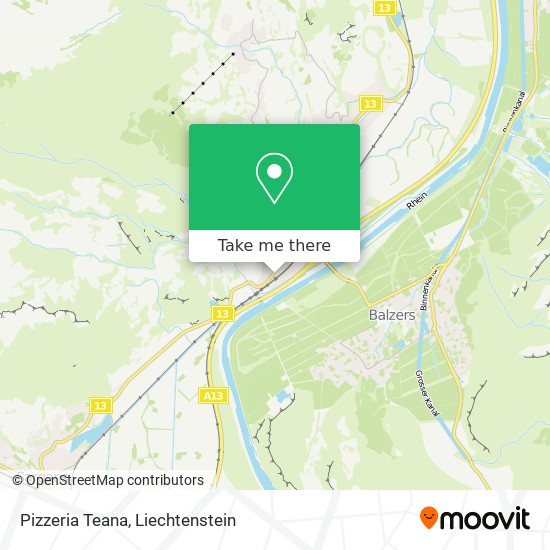 Pizzeria Teana map