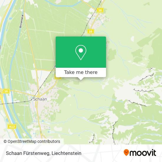 Schaan Fürstenweg map