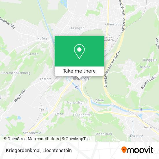 Kriegerdenkmal map