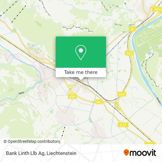 Bank Linth Llb Ag map