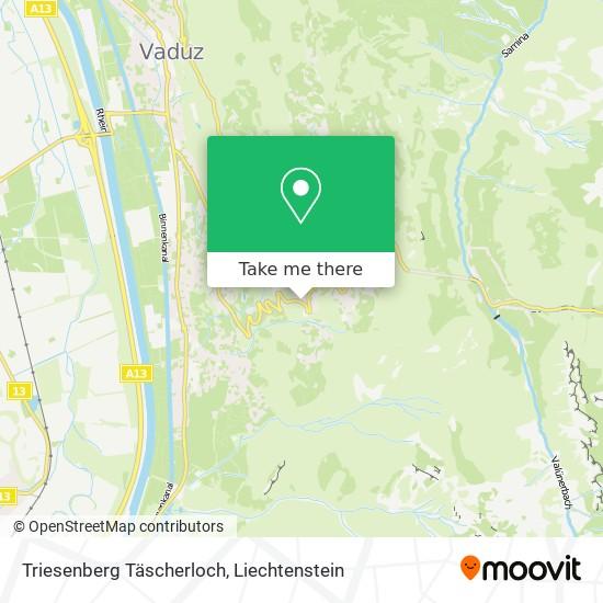 Triesenberg Täscherloch map