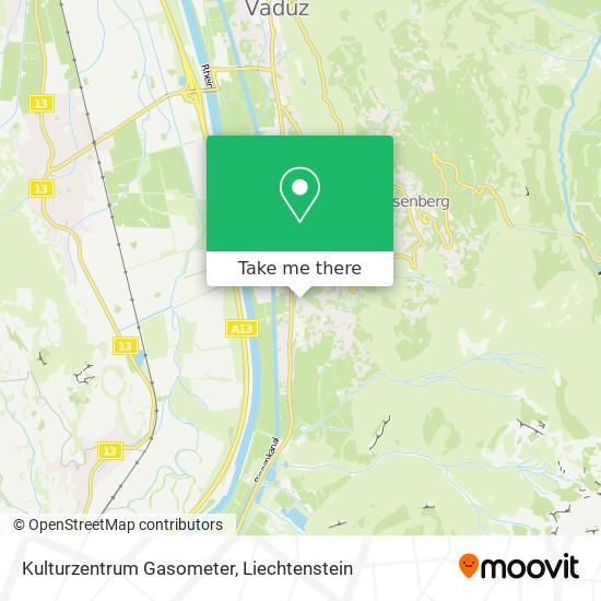 Kulturzentrum Gasometer map