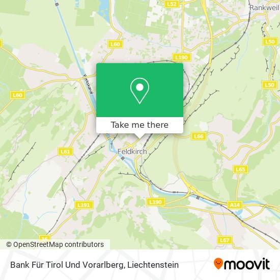 Bank Für Tirol Und Vorarlberg map