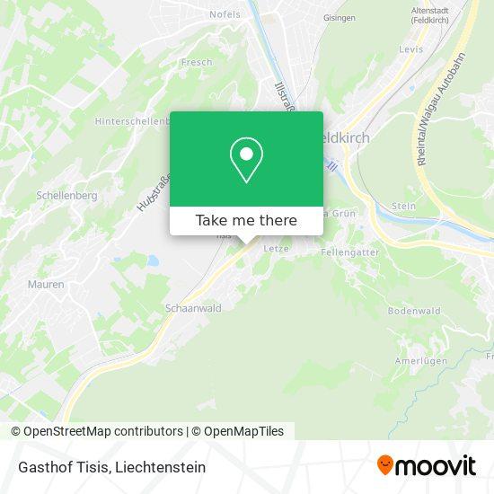 Gasthof Tisis map