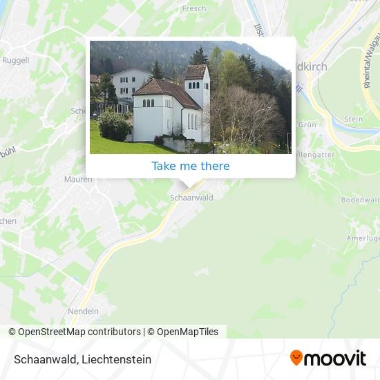 Schaanwald map