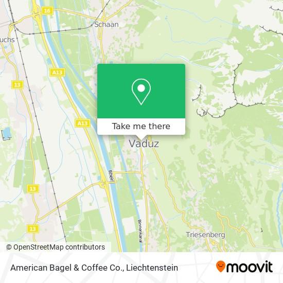 American Bagel & Coffee Co. map