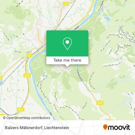 Mälsnerdorf map
