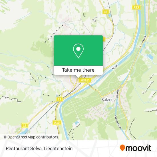 Restaurant Selva map